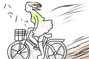 自転車にのる女の子